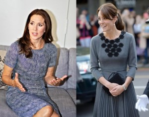 Kate Middleton-Mary di Danimarca: come due gocce d'acqua FOTO
