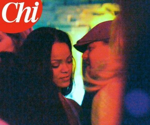 """Leonardo DiCaprio bacia Rihanna. FOTO """"Chi"""""""