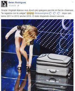 """Belen Rodriguez su Virginia Raffaele: """"E' stata..."""" VIDEO"""