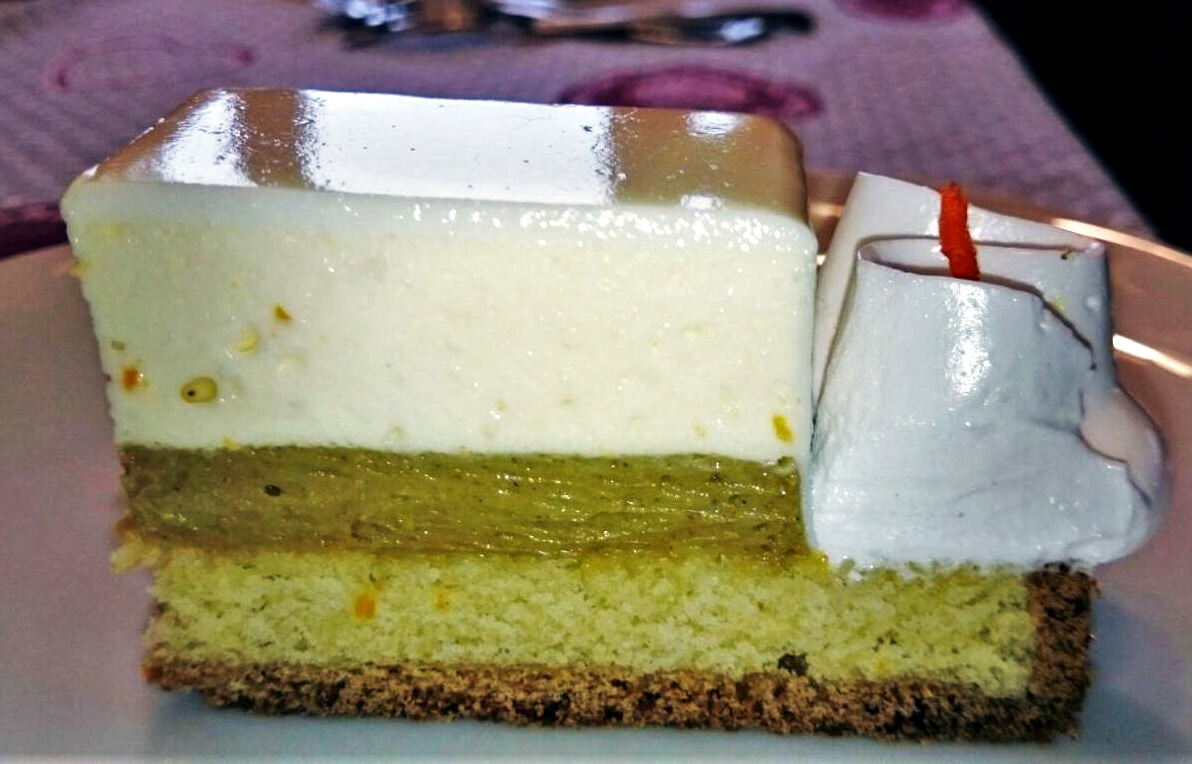 Torta The Brother al Pistacchio e Mandarino