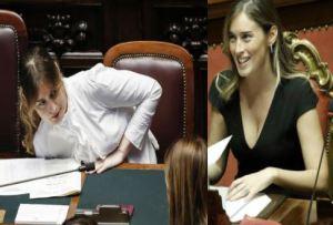 Maria Elena Boschi dalla camicia bianca al tailleur FOTO
