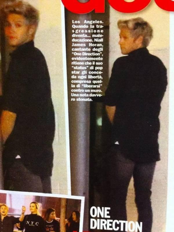 One Direction, Niall Horan fotografato mentre fa pipì in pubblico