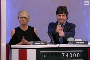 """Maria De Filippi a """"Rischiatutto"""": siparietto con Fabio Fazio"""