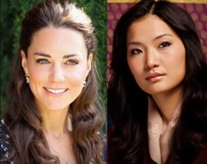 Kate Middleton, Jetsun Pema: look a confronto FOTO