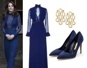 Kate Middleton news: abito blu lungo e trasparenze FOTO