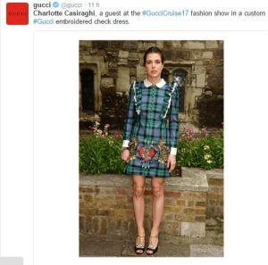 Charlotte Casiraghi, splendida alla sfilata Gucci FOTO