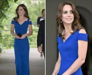 Kate Middleton splendida in abito blu... ma troppo magra FOTO