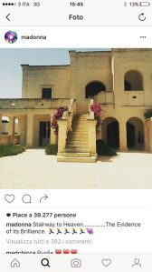 Madonna in Puglia: misteriosa foto su Instagram
