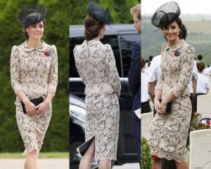 Kate Middleton, abito in pizzo Sophie Hallette FOTO