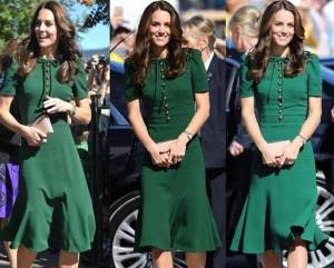 Kate Middleton impeccabile in D&G verde aderente FOTO