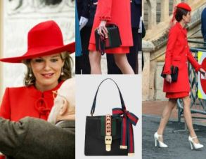 Marion Cotillard come Charlotte Casiraghi: diva in rosso