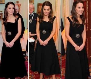 Kate Middleton, abito e tacchi: impeccabile in total black FOTO