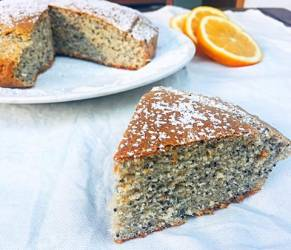 Torta Arancia e Semi di Papavero (senza burro)