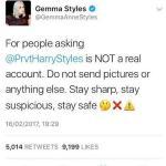 Harry Styles, sorella Gemma furiosa: colpa di un account Twitter