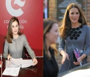 Letizia Ortiz, Kate Middleton: passione grigio! FOTO