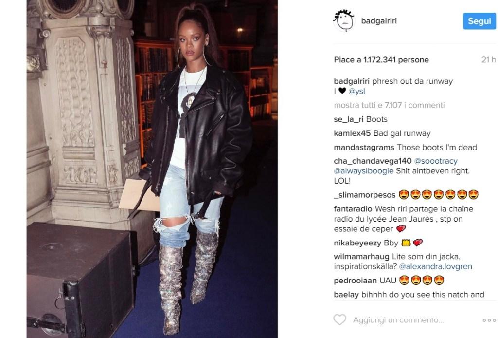 Rihanna è la prima ad indossare gli stivali Saint Laurent che abbiamo adorato FOTO.
