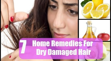 7 Effective Home Remedies For Dry Damaged Hair
