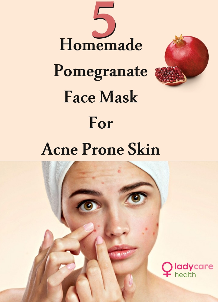 Homemade Pomegranate Face Mask For Acne Prone Skin