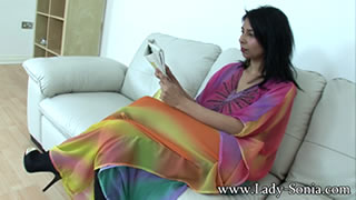 Asha Khan Stripping For The Camera While Her Husband Is Away