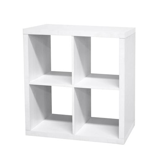 Etagère cube 4 cases - Blanc - Meubles de chambre La Foir\u0027Fouille