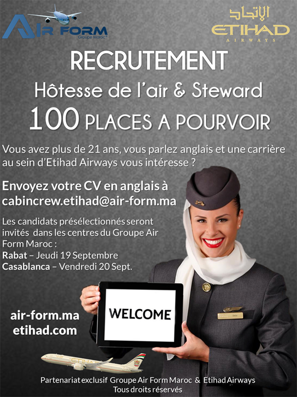 cv hotesse de l air emirates