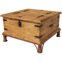 Rustic Pine Collection - Trunk Coffee Tablew/ Base - CEN68