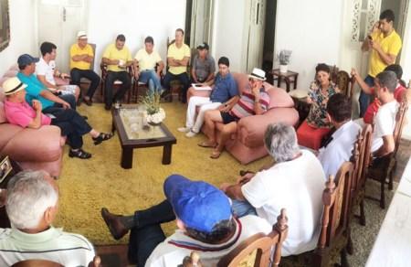 Líderes de PSD, PSB, PMDB e PT reunidos