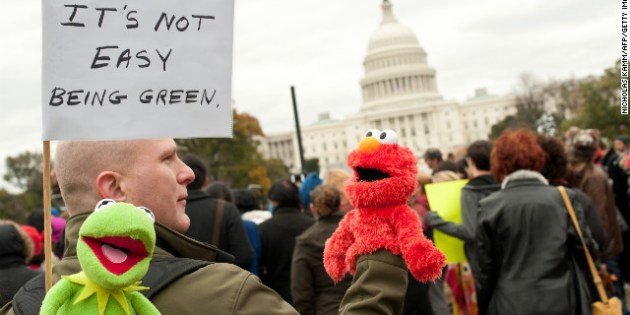 Protesters and their puppets march to support public broadcasting – CNN.com