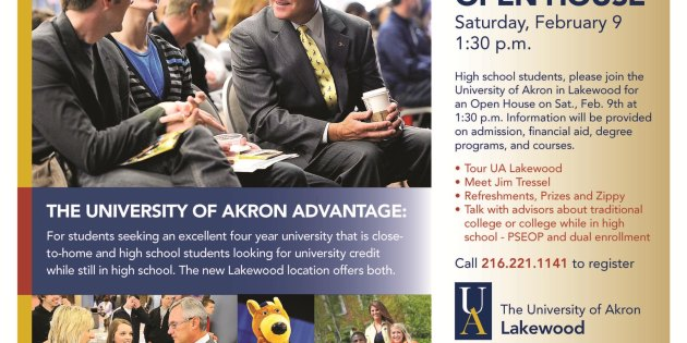 University of Akron Lakewood Open House Feb. 9th