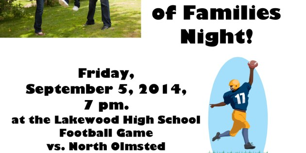 Seventh Annual Celebration of Families Night this Friday