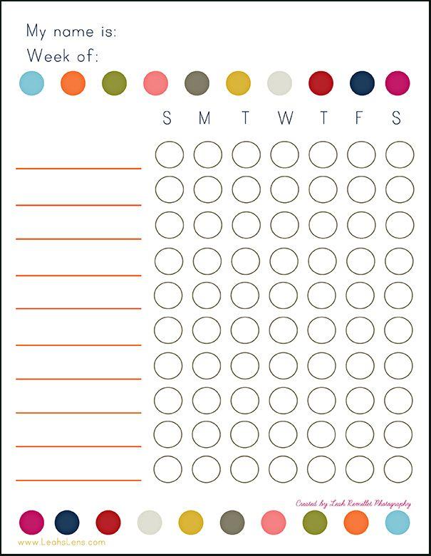 Chore Charts - la la Lovely