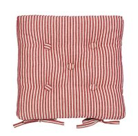 Red ticking stripe seat pad - Kitchen Chair Pads