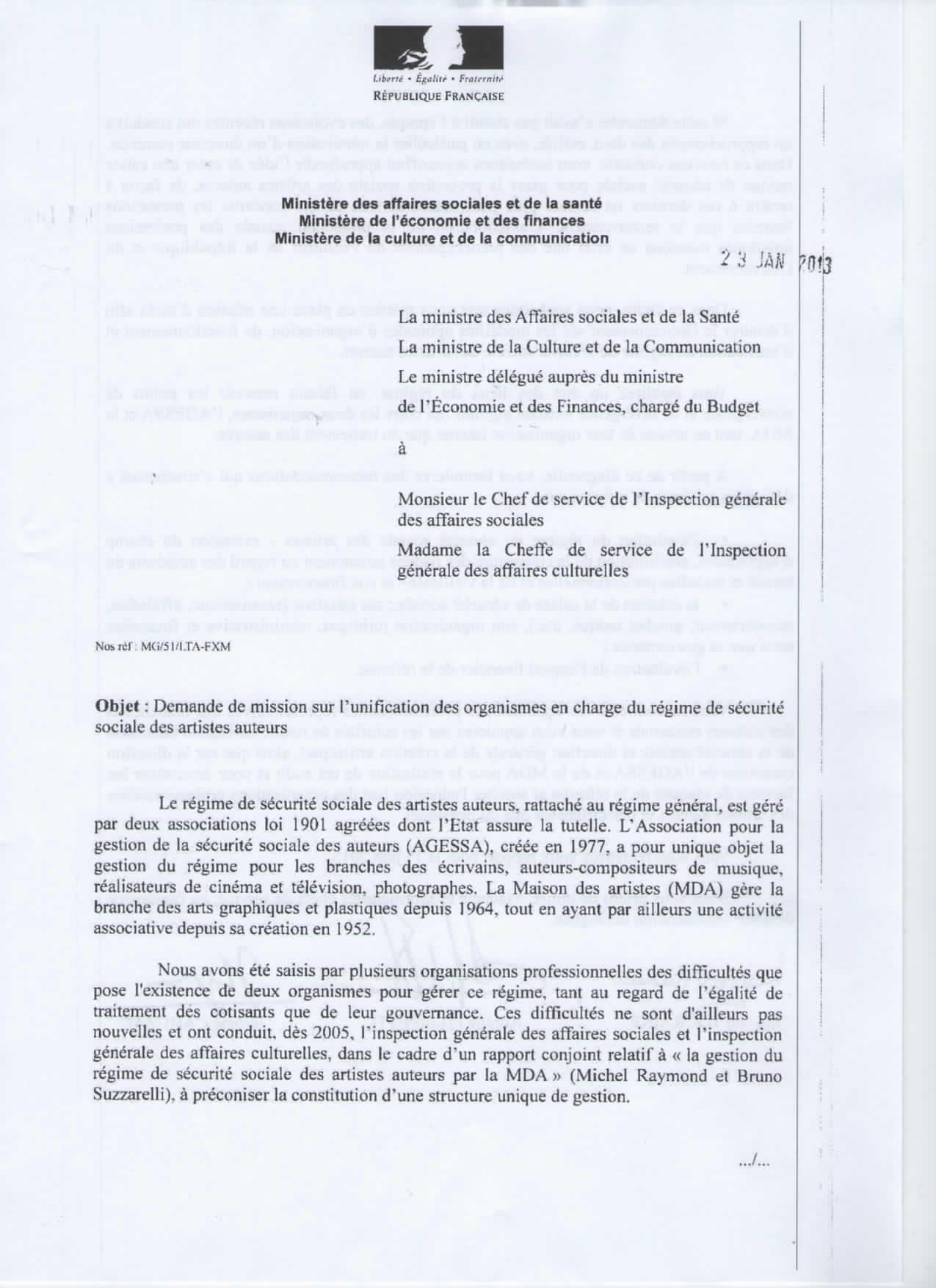 lettre administrative sous couvert de