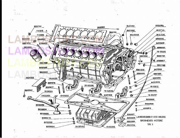 1966-1972 Lamborghini Miura Engine TAV 1
