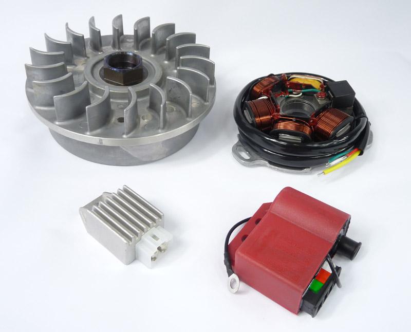 Lambretta Electronic ignition stator plate, DC, bgm-MBGM0408-MB