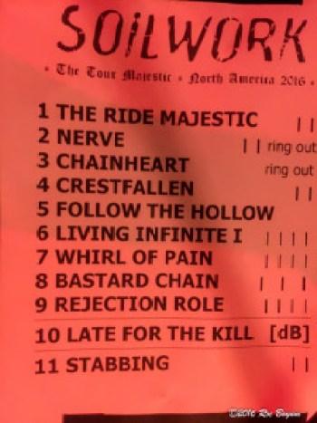 Soilwork setlist Fonda Theater