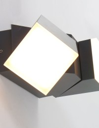 Luminaire exterieur  applique 2 spots moderne noire ...
