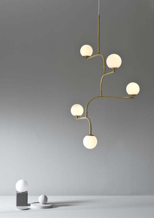 Mobil ceiling light brass