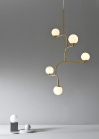 Mobil ceiling light brass