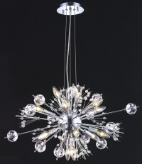 Elegant Lighting 3400D24C/EC Crystal Cyclone Small Chandelier