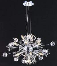 Elegant Lighting 3400D24C/EC Crystal Cyclone Small Chandelier