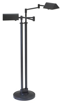 House of Troy PIN400-2-OB Pinnacle Double Swing Arm Floor Lamp