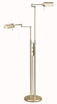 Lite Source LS-974AB Pharma Double Swing-Arm Floor Lamp
