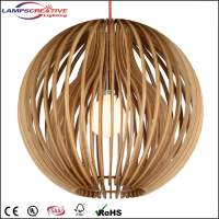 Modern furniture lamp pendant natural wood pendant light ...