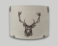 Stag Head Drum Lampshade - THE LAMPSHADE BARN