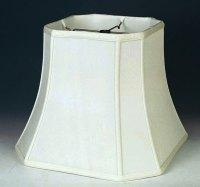 Bell Cut Corner Silk Square Lamp Shade | Lamp Shade Pro
