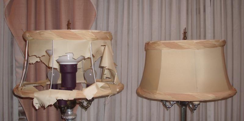 Repairing lamp shades car essay fabric lampshades cover liner restored aloadofball Gallery