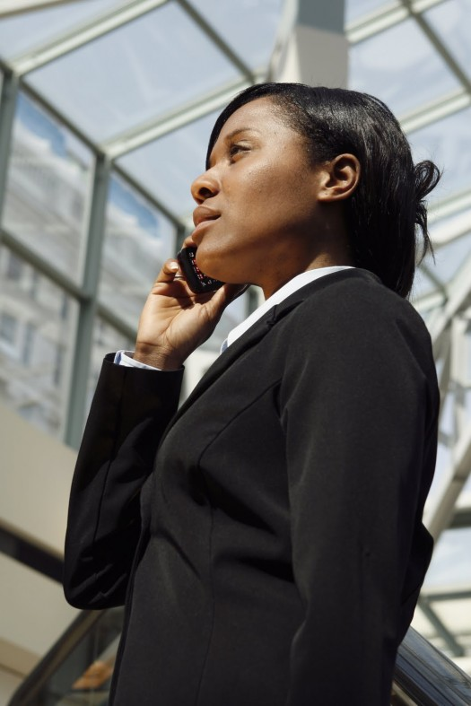 Atrium Businesswoman - Vertical