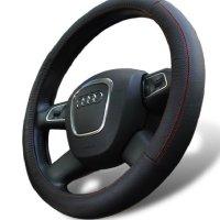 Leather Steering Wheel Cover for Toyota 4Runner Avalon Camry FJ Cruiser Highlander Land Cruiser RAV4 Sequoia Sienna Tacoma Tundra Venza