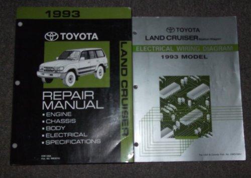 1993 Toyota Land Cruiser Service Shop Repair Manual SET (service
